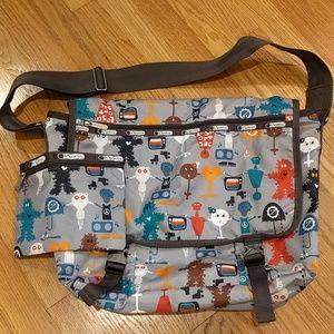 LeSporteSac messenger bag w pencil pouch